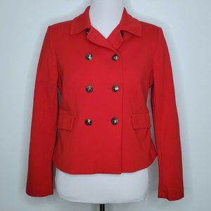 Lands End Red Blazer Size 8 Petite Fully Lined